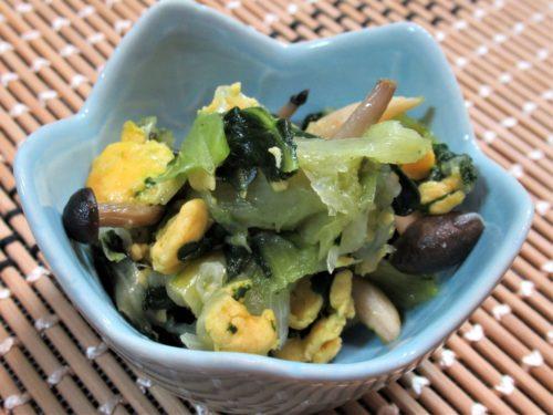 スギサポdeliチンゲン菜ときのこの玉子炒め