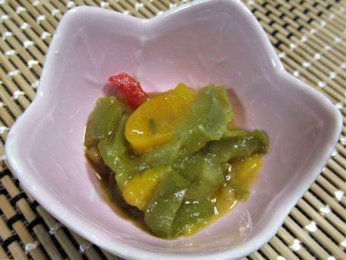 スギサポdeli三色ピーマンの炒め物