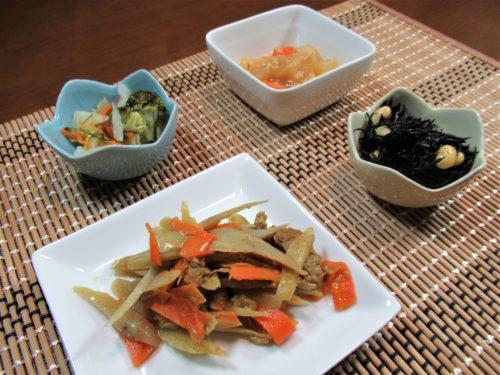 つるかめキッチン・牛蒡と牛肉のカレーマヨネーズ弁当