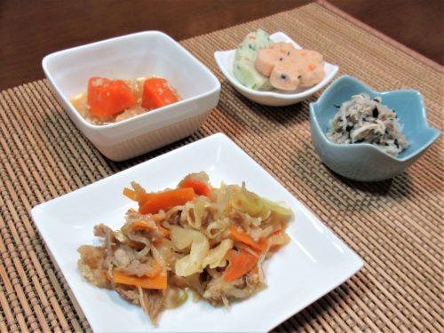つるかめキッチン・野菜と豚肉のカレー炒め弁当