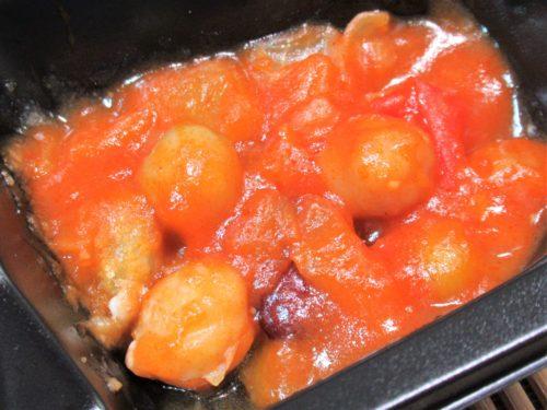 食のそよ風・五目豆のトマト煮