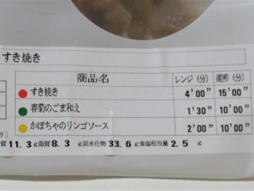 健康三彩・すき焼き