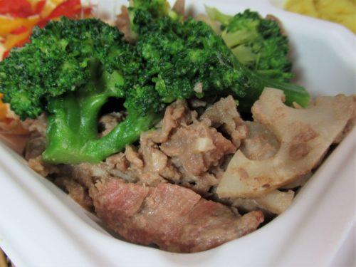 ママの休食「牛肉とれんこんのハニーマスタードソテー」