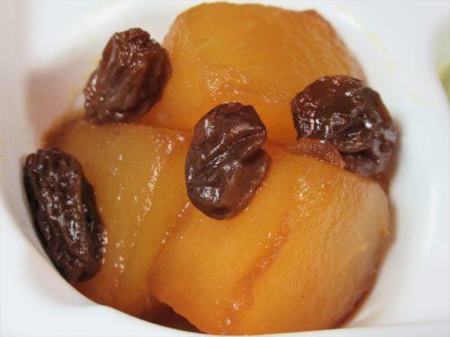ママの休食・りんごとレーズンの黒糖コンポート