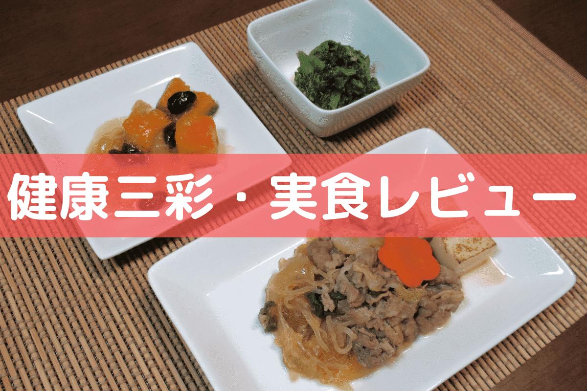 健康三彩・実食レビュー