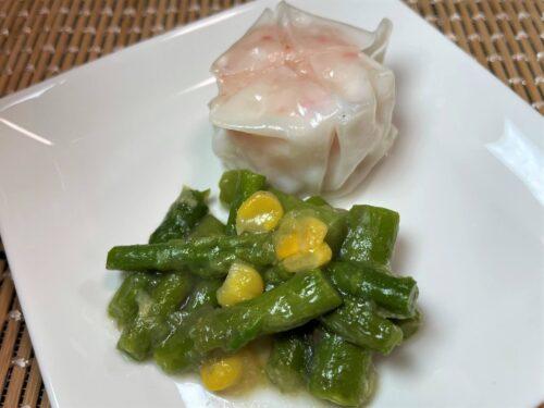 タイヘイファミリーセット・カニ風味焼売・アスパラとコーンのバター醤油