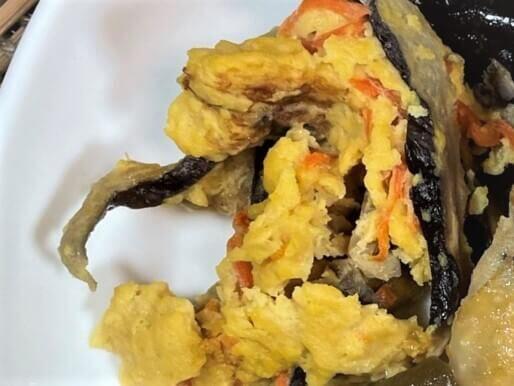 ライザップサポートミール・椎茸と人参の卵炒め