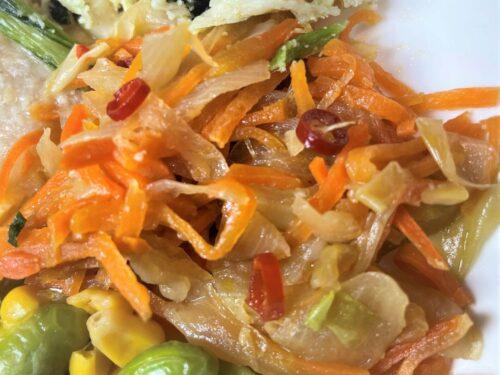 ライザップサポートミール・野菜のピリ辛炒め